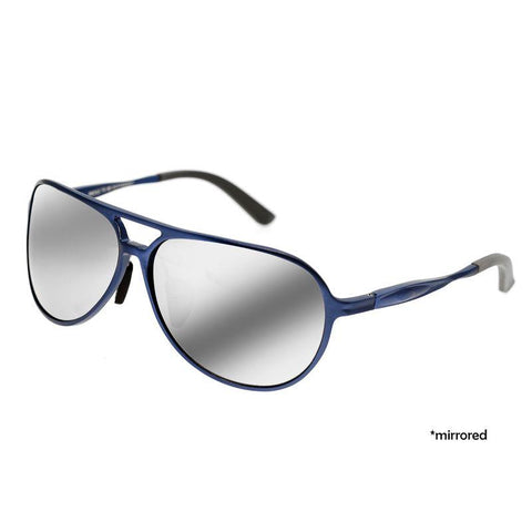Breed Earhart Aluminium Polarized Sunglasses - Blue/Silver BSG011BL