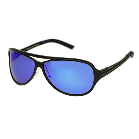 Breed Langston Aluminium Polarized Sunglasses - Black/Blue BSG012BK