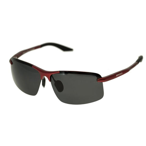 Breed Lynx Aluminium Polarized Sunglasses - Red/Black BSG015RD