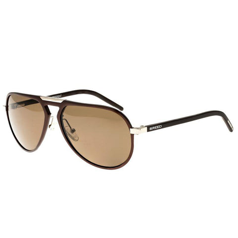 Breed Nova Aluminium Polarized Sunglasses - Brown/Brown BSG018BN