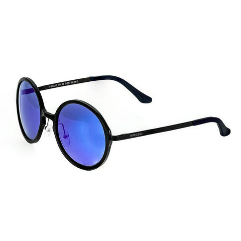 Breed Corvus Aluminium Polarized Sunglasses - Black/Blue BSG025BK