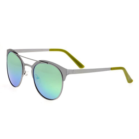 Breed Phoenix Titanium Polarized Sunglasses - Silver/Blue Green BSG036SL