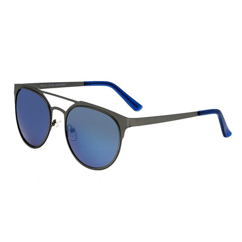 Breed Mensa Titanium Polarized Sunglasses - Gunmetal/Blue BSG037GM