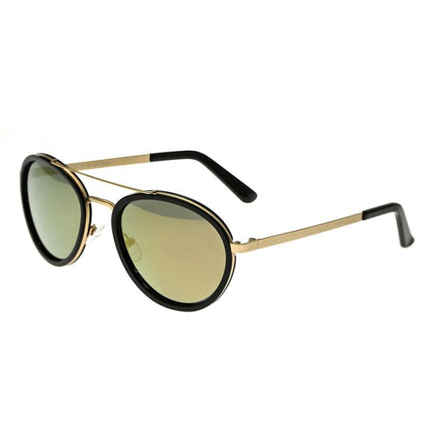 Breed Gemini Titanium Polarized Sunglasses - Gold-Black/Gold-Black BSG038GD