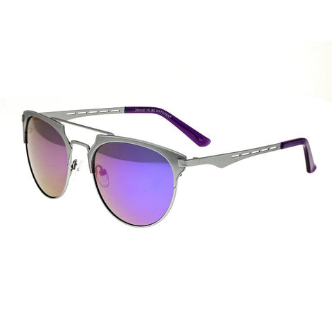 Breed Hercules Titanium Polarized Sunglasses - Silver/Purple BSG039SL