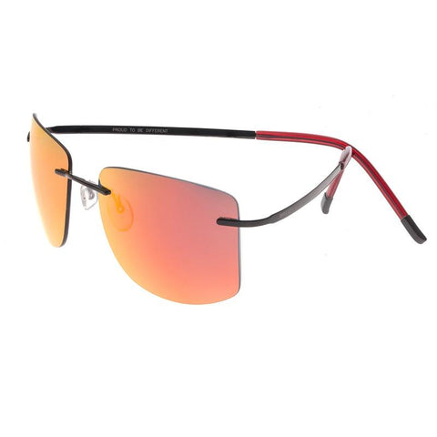 Breed Aero Polarized Sunglasses -Black/Red-Yellow BSG041BK