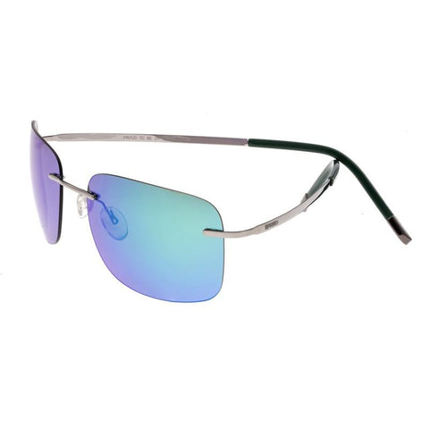 Breed Orbit Titanium Polarized Sunglasses - Gunmetal/Blue-Green BSG042GM