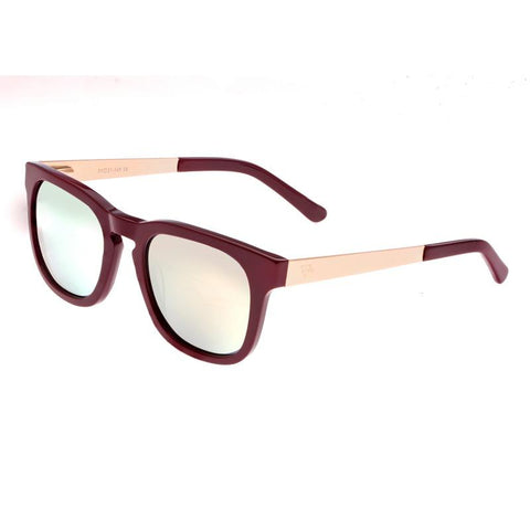 Sixty One Twinbow Polarized Sunglasses - Burgandy/Gold SIXS132GD