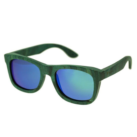 Spectrum Hamilton Wood Polarized Sunglasses - Teal/Blue-Green SSGS106GN