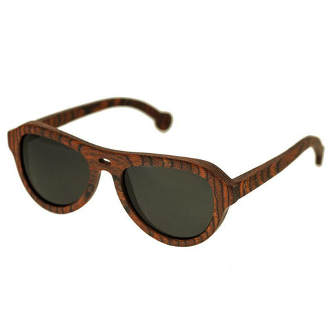 Spectrum Stroud Wood Polarized Sunglasses - Orange/Black SSGS110BK
