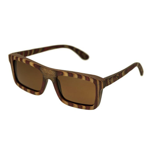 Spectrum Parkinson Wood Polarized Sunglasses - Cherry Zebra/Brown SSGS121BN