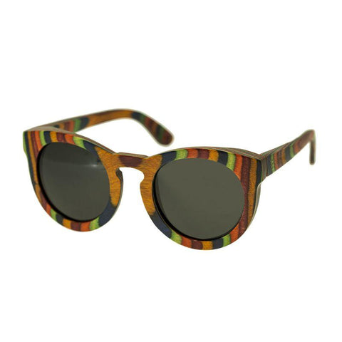 Spectrum Kekai Wood Polarized Sunglasses - Multi/Black SSGS125BK