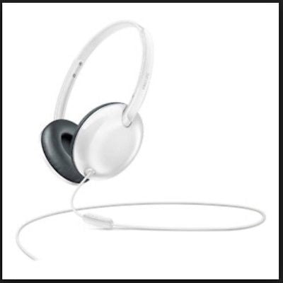 Philips Flite Ultralite on ear headphones with mic - in white