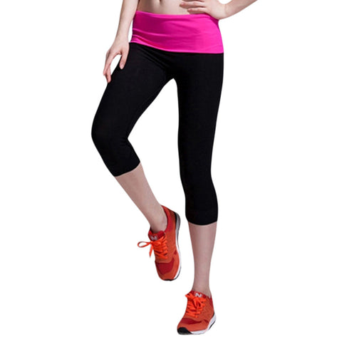 2016 New Women Calf-Length Pants Casual Fitness Jogger Pants Elasticity Skinny Sprots Legging