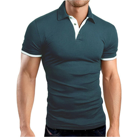4510a1be3f Mens Clothing Camisas Polo Homme 2017 Mens Polo Shirt Short-Sleeve Solid  Plus Size Turn