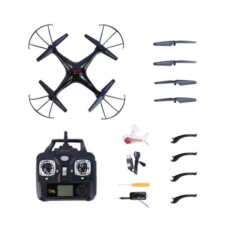 2.4G 50M RC Drone Quadcopter 0.3 MP Camera Black for Syma X5SW Ready-To-Fly Shatter Resistant Real-time Transmission