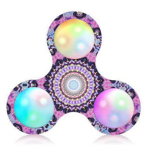 LED fidget spinner LED Light Fidget Hand Spinner Stress Relief Manipulative Play Toy finger spinner Led top toy fidget spinner