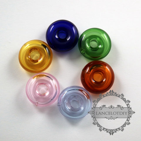 20mm green,pink,yellow,blue,purple,brown glass loop tiny hole purfume bottle pendant charm DIY jewelry supplies findings 1800223