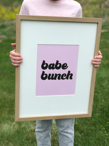 Babe Bunch Printable Sign