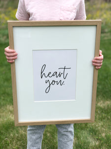 Heart You Printable Sign