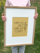 Little Bit Wild, Little Bit Flower Printable Sign