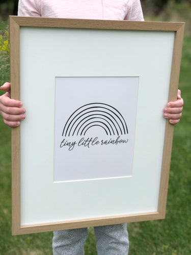 Tiny Little Rainbow Printable Sign