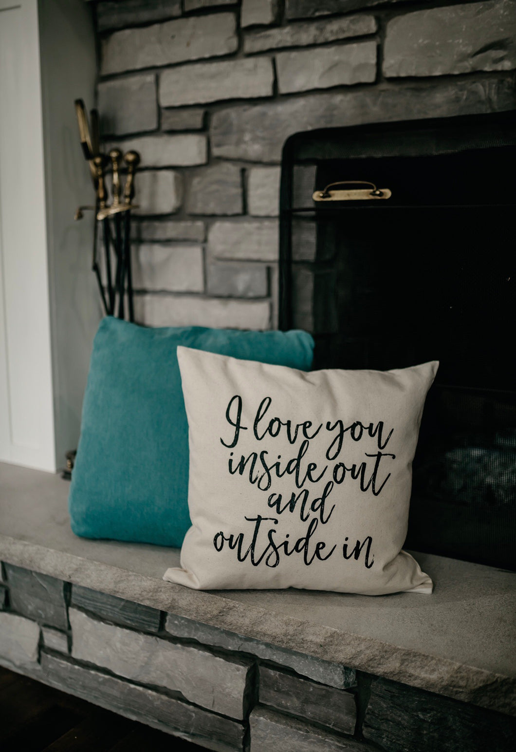 I Love You Inside Out and Outside In Pillow Cover