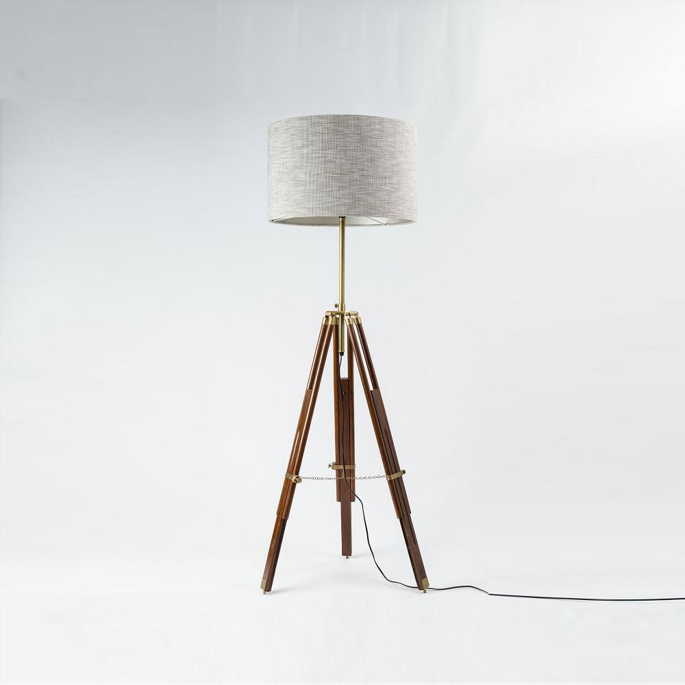 Pacific Tripod Brown & Antique Floor Lamp