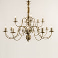 Antwerp 18 Light Antique Brass Flemish Style Chandelier