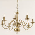Antwerp 8 Light Antique Brass Flemish Style Chandelier