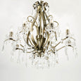Ara 8 Light Antique Brass Chandelier