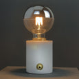 Pacific Marble and Brushed Gold Bulb Holder with Chrome Globe Bulb 95mm