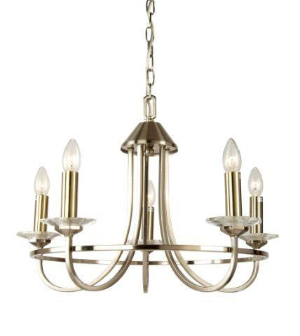 Carosello 5 Light Antique Brass Chandelier