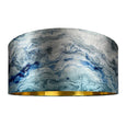 Rocke Azure Carrara Marble Effect Drum Electrified Pendant
