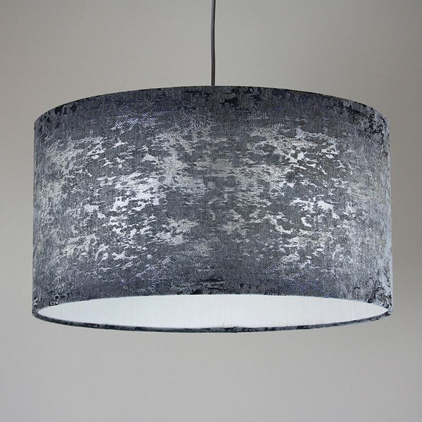 Rocke Baroque Silver Drum Shade