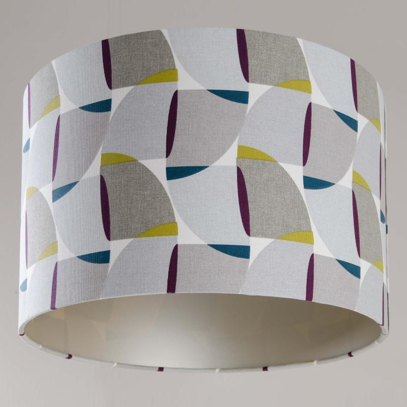 Rocke Grey Sail Drum Shade