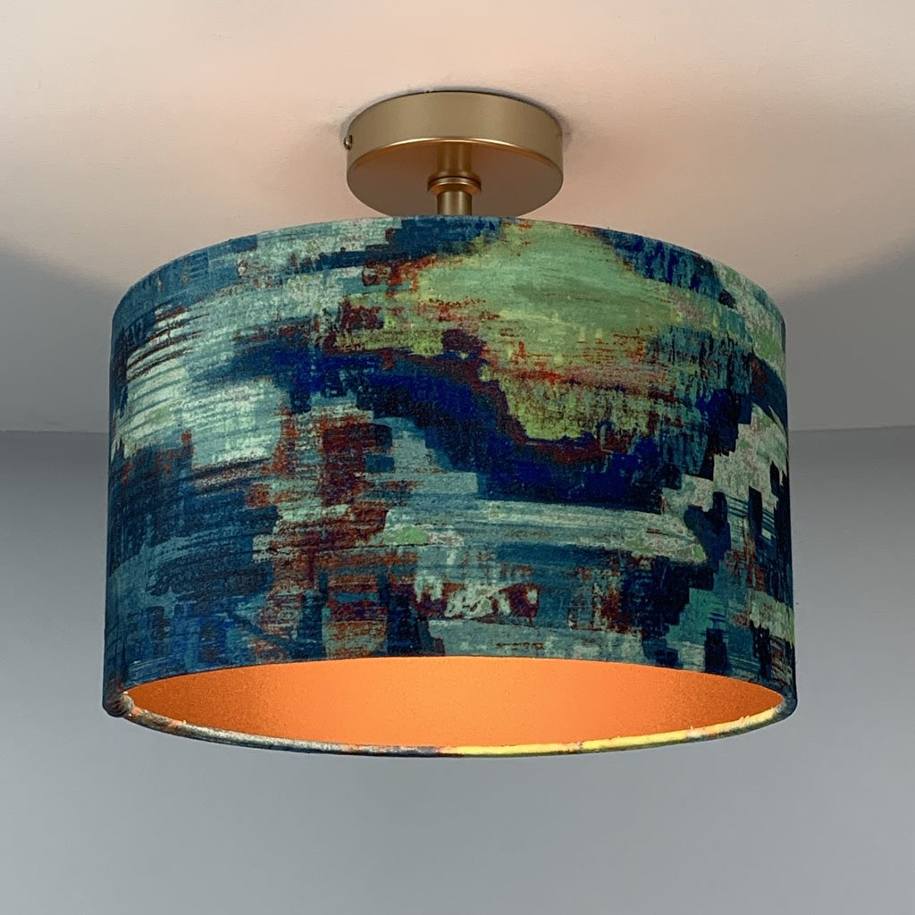 Bohemia Adriatic & Copper Lined 35cm Shallow Shaded Fitting