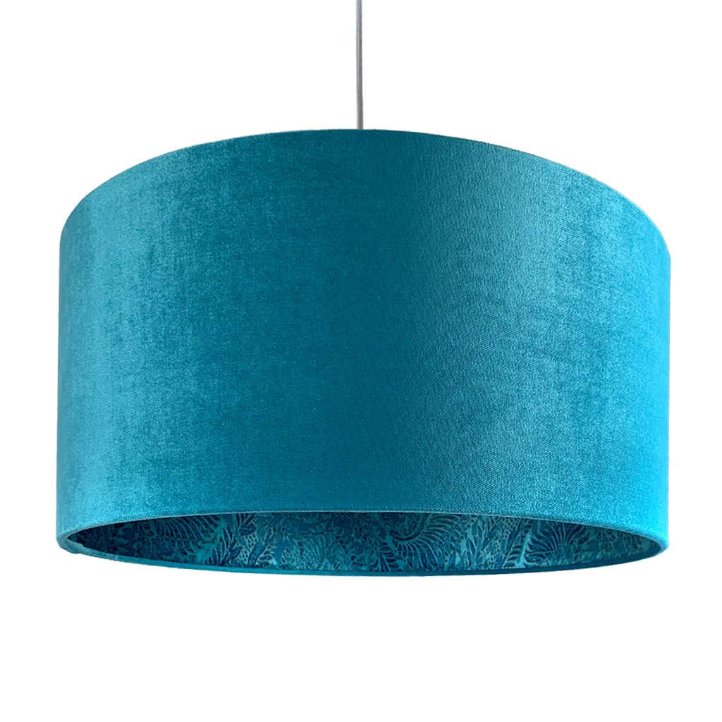 Rocke Allure Teal Velvet Shade with Pacha Teal Lining