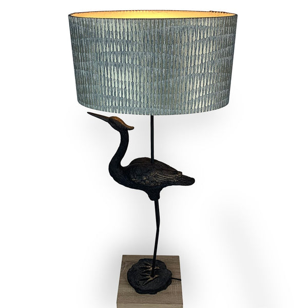 David Hunt Bird Table Lamp with Giotto Moonlight Shade