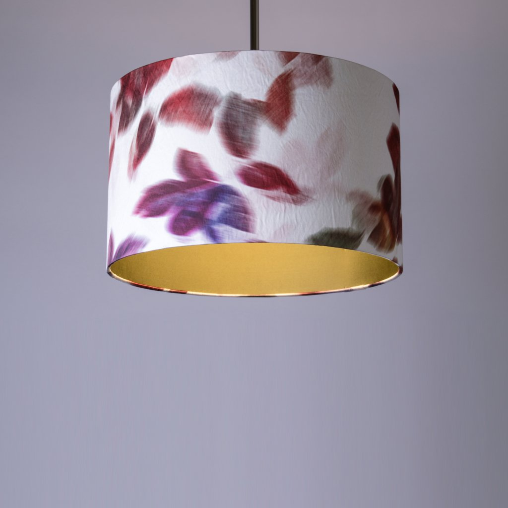 Rocke Breeze 1 Drum Shade with Royalty Leaf