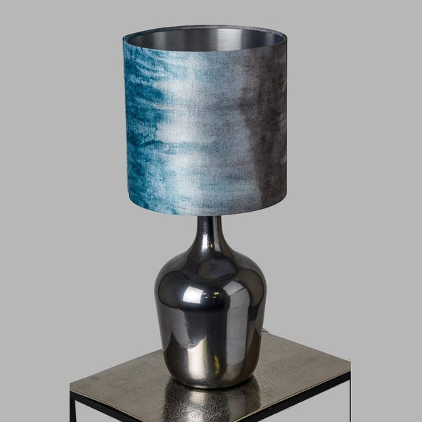 Nebulus Glass Table Lamp with Teal Ombre Shade