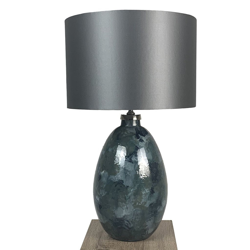 Ikela Enamel Rainforest Finish Glass Table Lamp