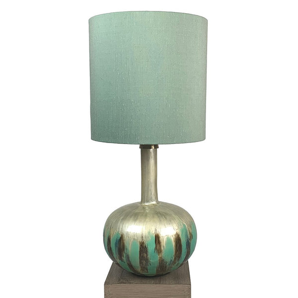Kiri Enamel Azurite Finish Glass Table Lamp