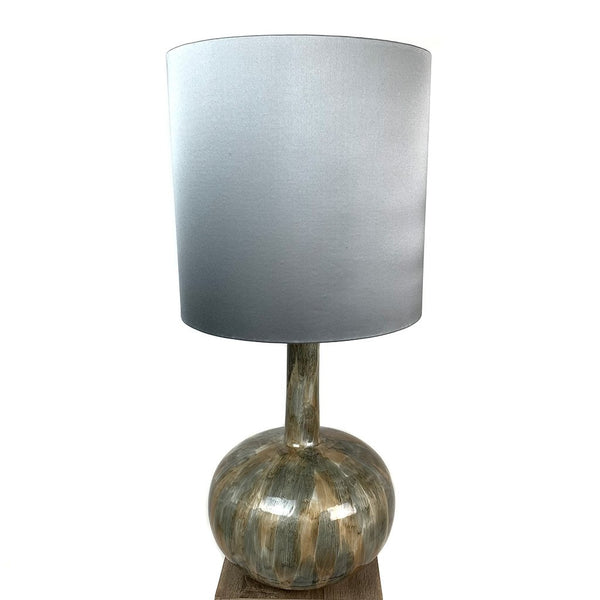 Kiri Enamel Bujumbura Finish Glass Table Lamp