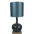 Kiri Enamel Rainforest Finish Glass Table Lamp with Deep Drum Shade