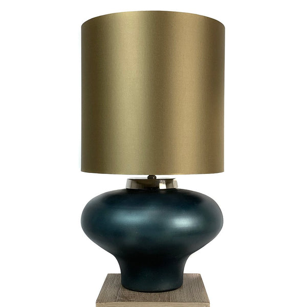 Rugari Enamel Malibu Finish Glass Table Lamp