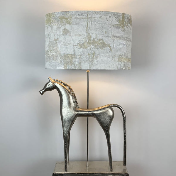 Etruscan Horse Champagne Finish Table Lamp with Hazel 1 Shade