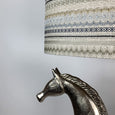 Etruscan Horse Champagne Finish Table Lamp