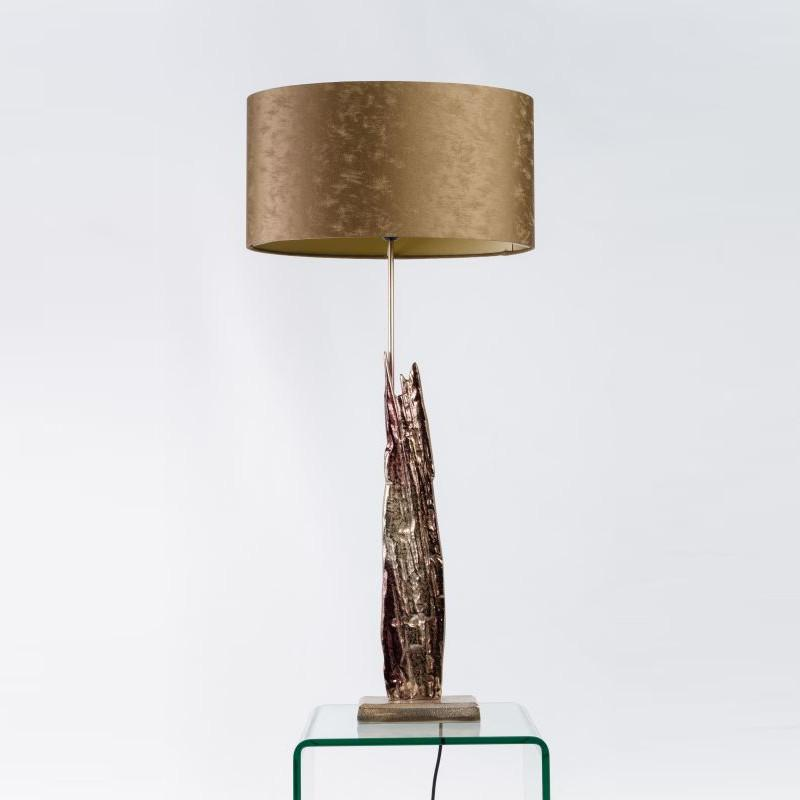 Trident Medium Table Lamp Champagne Brown