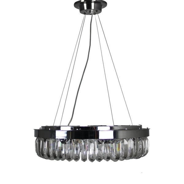 Strauss 8 Light Chrome & Clear Crystal Pendant